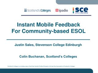 Instant Mobile Feedback For Community-based ESOL