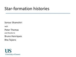 Star-formation histories