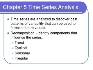 Chapter 5 Time Series Analysis