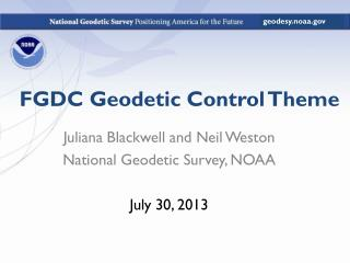 FGDC Geodetic Control Theme