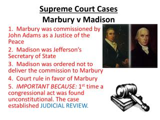 a case analysis of the marbury v madison Download the marbury vs madison facts the marbury v madison case was an instance wherein the supreme court struck down a law political cartoon analysis.