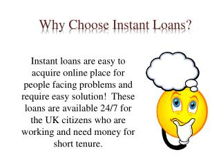 Instant Online Loans- Easily Available via Online Process