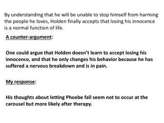 A counter-argument :