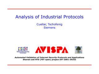 Analysis of Industrial Protocols Cuellar, Tschofenig Siemens