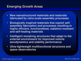 Emerging Growth Areas