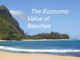 The Economic Value of Beaches