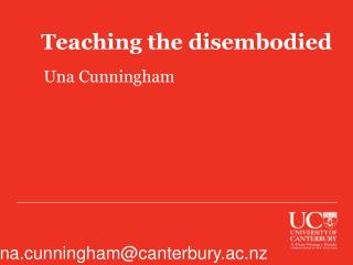 Teaching the disembodied