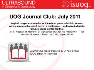 UOG Journal Club: July 2011