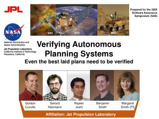 Verifying Autonomous Planning Systems Even the best laid plans need to be verified