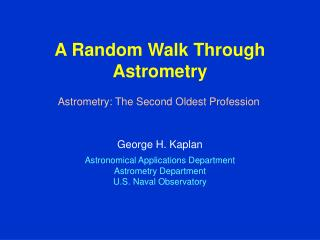 A Random Walk Through Astrometry