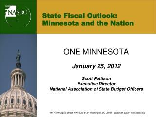 State Fiscal Outlook: Minnesota and the Nation