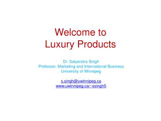 Welcome to Luxury Products