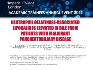 ACADEMIC TRAINEES ANNUAL EVENT  2011