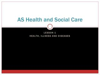 AS Health and Social Care