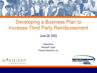 Developing a Business Plan to Increase Third Party Reimbursement