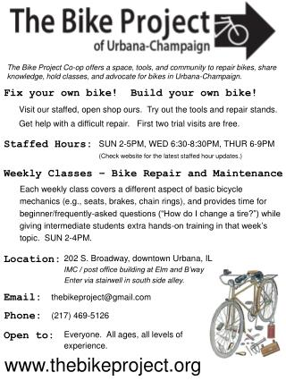 Fix your own bike!  Build your own bike!