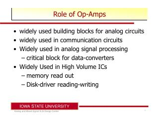 Role of Op-Amps