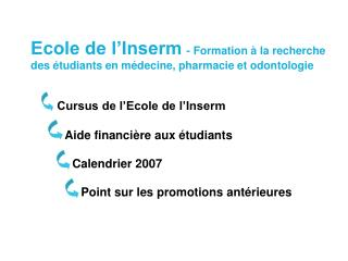 Point sur les promotions ant rieures