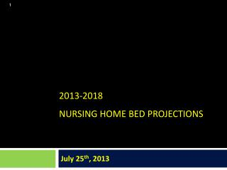 2013-2018  Nursing home Bed Projections
