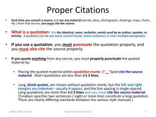 Proper Citations