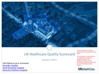 UK Healthcare Quality Scorecard