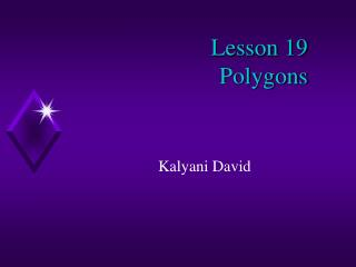 Lesson 19  Polygons