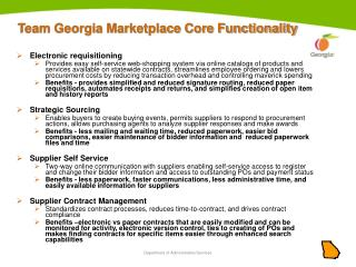 Team Georgia Marketplace Core Functionality