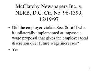 McClatchy Newspapers Inc. v. NLRB, D.C. Cir, No. 96-1399, 12/19/97