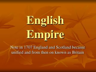 English Empire