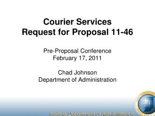 Courier Services Request for Proposal 11-46