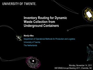 Inventory Routing for Dynamic Waste Collection from Underground Containers