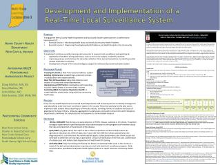 Development and Implementation of a  Real-Time Local Surveillance System