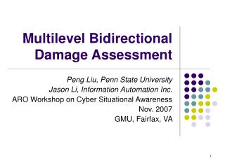 Multilevel Bidirectional Damage Assessment
