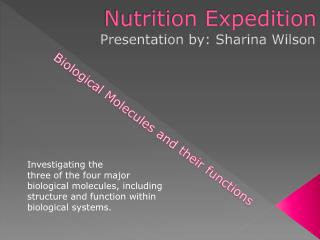Nutrition Expedition