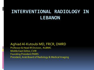 Interventional Radiology in Lebanon