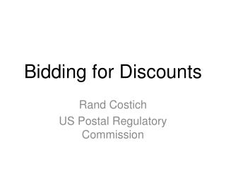 Bidding for Discounts