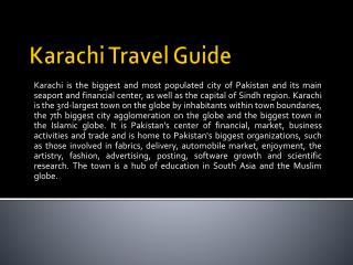Karachi Travel Guide