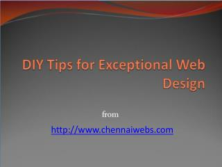 DIY Tips for Exceptional Web Design