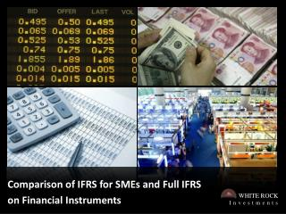 Comparison of IFRS for SMEs and Full IFRS on Financial Instruments