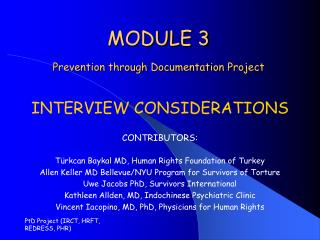MODULE 3 Prevention through Documentation Project