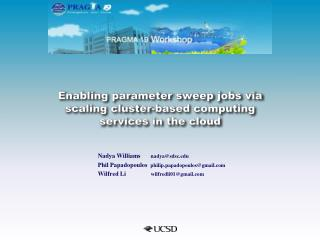 Enabling parameter sweep jobs via scaling cluster-based computing services in the cloud