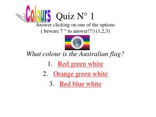 "Quiz N° 1 Answer clicking on one of the options ( beware 7 "" to answer!!!) (1,2,3)"