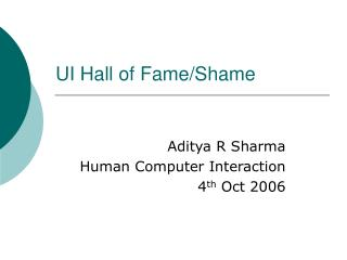 UI Hall of Fame/Shame