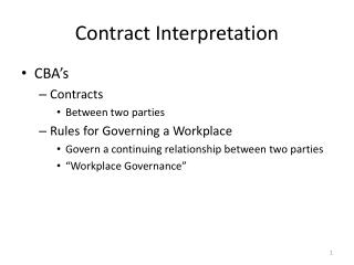 Contract Interpretation