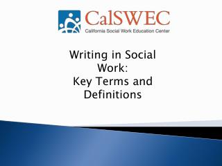 Writing in Social Work:  Key Terms and Definitions