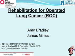 Rehabilitation for Operated Lung Cancer (ROC)