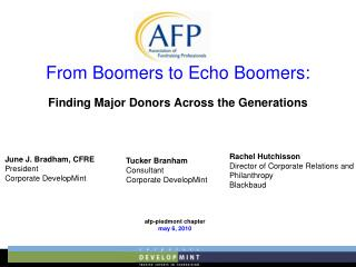 From Boomers to Echo Boomers: