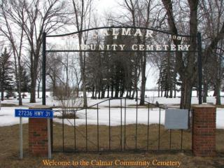Welcome to the Calmar Community Cemetery