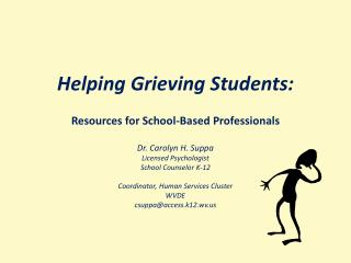 Helping Grieving Students: