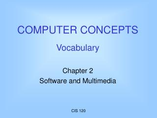 COMPUTER CONCEPTS Vocabulary